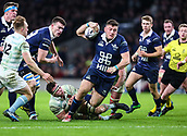 7th December 2017, Twickenham Stadium, London, England; The Varsity Match, Cambridge versus Oxford;  Kieran Ball on the charge for Oxford