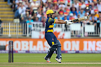Glamorgan's Andrew Salter hits the ball to the boundary for four<br /> <br /> Photographer Andrew Kearns/CameraSport<br /> <br /> NatWest T20 Blast Semi-Final - Birmingham Bears v Glamorgan - Saturday 2nd September 2017 - Edgbaston, Birmingham<br /> <br /> World Copyright &copy; 2017 CameraSport. All rights reserved. 43 Linden Ave. Countesthorpe. Leicester. England. LE8 5PG - Tel: +44 (0) 116 277 4147 - admin@camerasport.com - www.camerasport.com