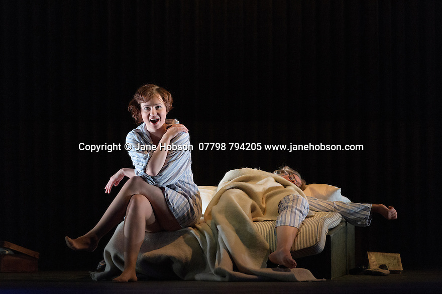 English Touring Opera presents XERXES, by George Frideric Handel, at the Hackney Empire, prior to setting off on a UK tour. Picture shows: Galina Averina (Atalanta), Laura Mitchell (Romilda)