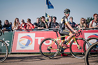 Tom Pidcock (GBR/U23/Telenet Fidea Lions) on the startline of his first U23 race for the Telenet Fidea Lions<br /> <br /> CX Super Prestige Zonhoven 2017