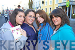 Ramona Scur, Rebecca Moriarty, Hannah Stitson and Alison Howard pictured at world record attempt for the largest-ever Irish dancing session, in Denny street, Tralee on Friday evening.