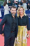 Clovis Cornillac and Lilou Fogli attends the red carpet during the 41st Deauville American Film Festival on September 6, 2015 in Deauville, France