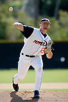 Barry Enright of the Pepperdine Waves during a game against the Wichita State Shockers at Eddy D. Field Stadium on February 16, 2007 in Malibu, California. (Larry Goren/Four Seam Images)