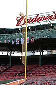 Flags for each participating school - University of New Hampshire, Northeastern University, Boston University and Boston College - were hung along with a Hockey East conference flag next to the Red Sox retired numbers. A press conference hosted by the Hockey East Association, the Boston Red Sox and Fenway Sports Group was held on Thursday, August 20, 2009, at Fenway Park in Boston, MA, to announce that there would be a Hockey East college hockey doubleheader on Friday, January 8, 2010, held on the ice that will be used for the January 1, 2010 NHL Winter Classic.  The afternoon (4:00 pm EST) match will be between the Northeastern University Huskies (home team) and University of New Hampshire Wildcats women's teams while the evening (7:30 pm EST) match will be between the Boston College Eagles (home team) and the Boston University Terriers men's teams.