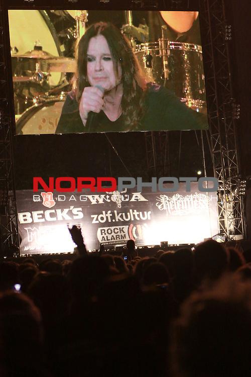 04.08.2011, Wacken, GER, W:O:A Wacken Open Air 2011, im Bild Ozzy Osbourne auf der Videoleinwand, Foto © nph / Kohring *** Local Caption ***