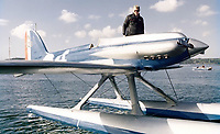 BNPS.co.uk (01202 558833)<br /> Pic: WilliamHosie/BNPS<br /> <br /> William's father Bill with his S.5 replica.<br /> <br /> British pilot William Hosie is attempting to build a working replica of the historic S.5 Schneider trophy seaplane, 33 years after his father was killed in an identical aircraft.<br /> <br /> William Hosie, 58, needs to raise £275,000 to construct a unique Supermarine S.5 from scratch, using the original blueprints of the famous aircraft designed by R.J.Mitchelll in the 1920's.<br /> <br /> The project has an added poignancy as his father, Bill Hosie, perished aged 57 flying an identical S.5 replica he'd built over Mylor, Cornwall, in May 1987.<br /> <br /> Once complete, William hopes to fly the unique seaplane at airshows as a reminder of Britain's proud history from the pioneering days of aircraft and as a tribute to his late father.<br /> <br /> The Supermarine S.5 won the prestigious Schneider Trophy in Venice in 1927 with a speed of 281mph. If Will, from Taunton, Somerset, succeeds, his will be the only working Supermarine S5 in the world.