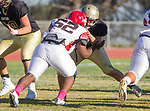 Palos Verdes, CA 10/27/17 - \m52\in action during the Morningside Monarchs - Palos Verdes Peninsula Varsity football game at Peninsula High School.