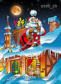 Eberle, Comics, CHRISTMAS SANTA, SNOWMAN, paintings, DTPC29,#X# Weihnachten, Navidad, illustrations, pinturas