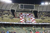 Striscione dei Tifosi Baresi, banner fans, supporters  <br /> Bari 24-11-2015 Stadio San Nicola <br /> Football Calcio Trofeo San Nicola 2015 Bari - Milan<br /> Foto Cesare Purini / Insidefoto