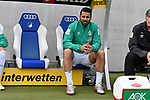 11.05.2019, PreZero Dual Arena, Sinsheim, GER, 1. FBL, TSG 1899 Hoffenheim vs. SV Werder Bremen, <br /> <br /> DFL REGULATIONS PROHIBIT ANY USE OF PHOTOGRAPHS AS IMAGE SEQUENCES AND/OR QUASI-VIDEO.<br /> <br /> im Bild: Auf der Bank Claudio Pizarro (SV Werder Bremen #4)<br /> <br /> Foto &copy; nordphoto / Fabisch