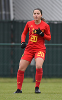 20190206 - TUBIZE , BELGIUM : Belgian Luna Vanzeir pictured during the friendly female soccer match between Women under 17 teams of  Belgium and The Netherlands , in Tubize , Belgium . Wednesday 6th February 2019 . PHOTO SPORTPIX.BE DIRK VUYLSTEKE
