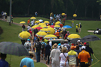 Gallery following the last match during the Final Round of the 2014 Maybank Malaysian Open at the Kuala Lumpur Golf & Country Club, Kuala Lumpur, Malaysia. Picture:  David Lloyd / www.golffile.ie