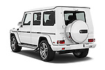 Car pictures of rear three quarter view of 2016 Mercedes Benz G-Class AMG-G63 5 Door SUV Angular Rear