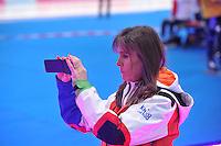 SCHAATSEN: BERLIJN: Sportforum, 08-12-2013, Essent ISU World Cup, Yvonne van Gennip (KNSB Teammanager Nationale Selectie Langebaan), ©foto Martin de Jong