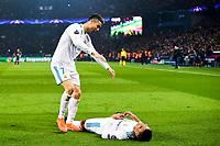joie des joueurs du Real de Madrid apres le but de Casemiro (Real Madrid) <br /> Cristiano Ronaldo (Real Madrid) <br /> Parigi 07-03-2018 Allianz Arena <br /> Paris Saint Germain - Real Madrid Quarti di finale ritorno Champions League 2017/2018<br /> Foto Panoramic / Insidefoto