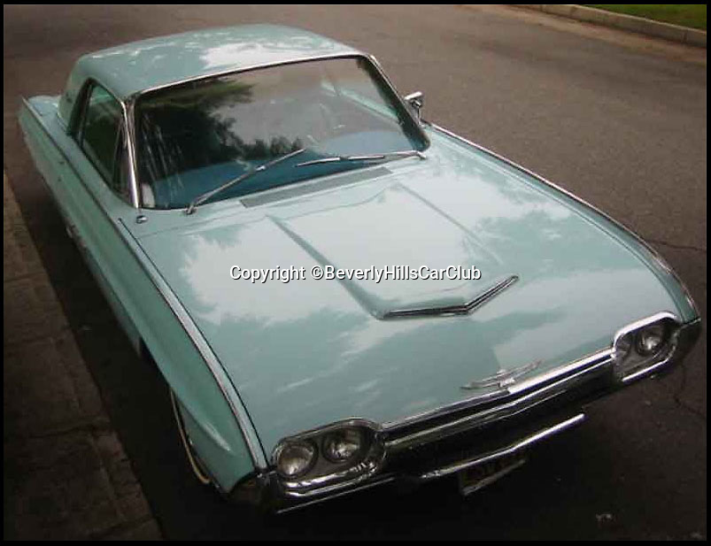 BNPS.co.uk (01202 558833)<br /> Pic: BeverlyHillsCarClub/BNPS<br /> <br /> ***Please Use Full Byline***<br /> <br /> A classic Ford Thunderbird car owned by late Clash frontman Joe Strummer has emerged for sale for a mystery sum.<br /> <br /> The rock legend bought the plush motor in 1987, splashing out just 4,200 dollars for it when he moved to the USA in the wake of the band's break-up.<br /> <br /> A huge fan of American cars, Strummer - the genius behind The Clash's biggest hits such as Rock the Casbah, London Calling and Should I Stay of Should I Go - drove the 1963 Thunderbird right up until his untimely death in 2002.<br /> <br /> Following Strummer's sudden death aged 50 from undiagnosed heart problems the car was passed to his publicist.<br /> <br /> The car, which has done 420 miles on its current engine, is now being sold on eBay by the California car dealers Beverly Hills Car Club.