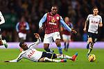 Tottenham's Danny Rose tackles Charles N'Zogbia of Aston Villa - Aston Villa vs. Tottenham Hotspurs - Barclay's Premier League - Villa Park - Birmingham - 02/11/2014 Pic Philip Oldham/Sportimage