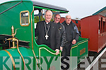 A visit to Lartique Monorail, Listowel by Bishop Raymond Brown, Canon Declan O'Connor and Fr. John Lucid on Sunday.  Pictured L-R were: Bishop Raymond Brown, Canon Declan O'Connor and Fr. John Lucid on board the Monorail