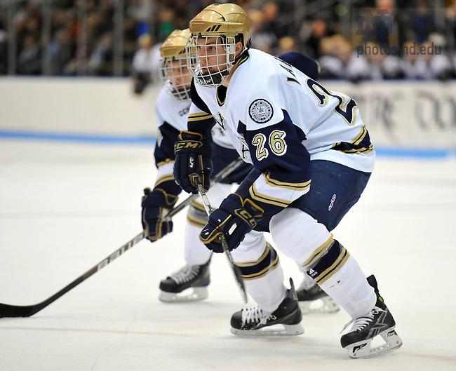 2009-10 Hockey #26 Nick Larson..Photo by Matt Cashore/University of Notre Dame