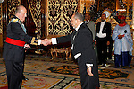 Madrid, (24/10/10).- S.M. El Rey D. Juan Carlos de Borbon recibe las cartas credenciales del Embajador de la Republica Islamica de Mauritania, Excmo. senor Mohamed Mahmoud Ould Abdellahi Ould Boye en El Palacio Real.....King Juan Carlos I of Spain presided the Credential Cards giving to diplomatics in Spain...Photo: Alex Cid-Fuentes / ALFAQUI
