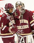 Kaliya Johnson (BC - 6), Katie Burt (BC - 33) - The visiting Boston College Eagles defeated the Harvard University Crimson 2-0 on Tuesday, January 19, 2016, at Bright-Landry Hockey Center in Boston, Massachusetts.