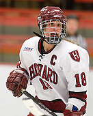 Cori Bassett (Harvard - 18) - The Harvard University Crimson defeated the Boston College Eagles 5-0 in their Beanpot semi-final game on Tuesday, February 2, 2010 at the Bright Hockey Center in Cambridge, Massachusetts.