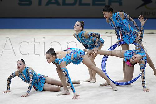 18 04 2010  Israelian Group during Rhythmic Gymnastics European Championships 2010 in Bremen AT The apparatus Finals 18 04 2010 Team competition