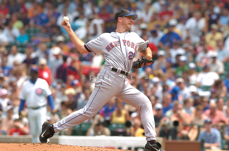 Steve Trachsel, of the New York Mets, in action against the Chicago Cubs on July 14, 2006 in Chicago...Mets win 6-3..David Durochik/ SportPics