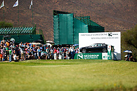 Ross Fisher (ENG) on the 18th teeduring the final round of the Nedbank Golf Challenge hosted by Gary Player,  Gary Player country Club, Sun City, Rustenburg, South Africa. 11/11/2018 <br /> Picture: Golffile | Tyrone Winfield<br /> <br /> <br /> All photo usage must carry mandatory copyright credit (&copy; Golffile | Tyrone Winfield)