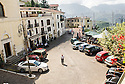 General view of Piazza Ernesto Capocci, Picinisco, Italy.