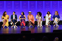 "HOLLYWOOD, CA - MARCH 23: Janet Mock, Steven Canals, Mj Rodriguez, Billy Porter, Indya Moore, Dominique Jackson and Our Lady J. at PaleyFest 2019 for FX's ""Pose"" panel at the Dolby Theatre on March 23, 2019 in Hollywood, California. (Photo by Vince Bucci/FX/PictureGroup)"