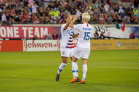 Jacksonville, FL - Thursday, April 05, 2018:  Alex Morgan, Megan Rapinoe, Goal Celebration during a friendly match between USA and Mexico at EverBank Stadium.  USA defeated Mexico 4-1.