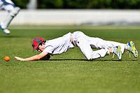 A Medbury fielder during the National Primary School Cup Final between Medbury School v Huntley School at the Bert Sutcliffe Oval, Lincoln University, Christchurch, New Zealand. Wednesday 22 November 2017. Photo: John Davidson/www.bwmedia.co.nz