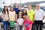 Carla Farrar, Ncova Higueras, Denis Brosnan, Ella Brosnan, Tiernan Brosnan, Sadhbh Horgan, Ciara Marie Roche, Orla Brosnan and Kevin Roche, cheering on Shane Finn as he makes a stop at O'Shea's, Blennerville, Tralee, on his 23rd Marathon.