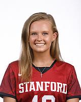 STANFORD, CA - August 16, 2019: Corinne Zanolli on Field Hockey Photo Day.