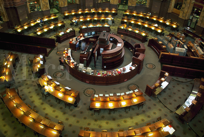 Interior of the Library of Congress Reading Room, Washington, D.C., USA