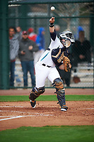 Santiago (Santi) Garcia (7) of Enterprise High School in Daleville, Alabama during the Under Armour All-American Pre-Season Tournament presented by Baseball Factory on January 14, 2017 at Sloan Park in Mesa, Arizona.  (Mike Janes/MJP/Four Seam Images)