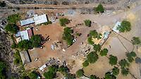 Aerial view of the trees and green areas around the town of Quiriego, Sonora. rancho,  Ranch<br /> Vista Aérea de los arboles y  areas verde en los alrededores de pueblo de Quiriego, Sonora. <br /> (Photo: LuisGiutierrez/NortePhoto)