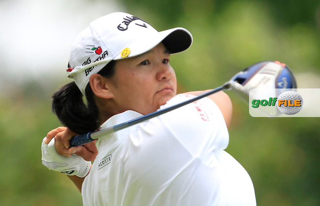 Yani Tseng (TWA) on the 9th tee during Round 2 of the HSBC Women's Champions at the Sentosa Golf Club, The Serapong Course in Singapore on Friday 6th March 2015.<br /> Picture:  Thos Caffrey / www.golffile.ie