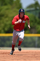 Boston Red Sox Danny Mars (40) during a minor league spring training game against the Baltimore Orioles on March 20, 2015 at Buck O'Neil Complex in Sarasota, Florida.  (Mike Janes/Four Seam Images)