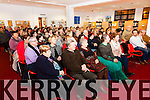 A full house for a Health & Well Being Talk in South Kerry, held in the Cahersiveen Library on Thursday evening with speaker Dr. Fergus Heffernan(Family Psychologist).