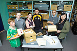Pictured were: Students of CBS The Green, who are taking part in the first 'Heritage Heros' pilot programme in Kerry, had a look back on many interesting items at Kerry County Museum on Thursday. Pictured were: Ross Sugrue, Ryan Moran, Sarah O'Farrell, Gary Clifford, Hubert Grabczak and teacher Rebekah Wall.
