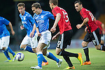 St Johnstone v FC Spartak Trnava...31.07.14  Europa League 3rd Round Qualifier<br /> Chris Kane and Milan Bortel<br /> Picture by Graeme Hart.<br /> Copyright Perthshire Picture Agency<br /> Tel: 01738 623350  Mobile: 07990 594431