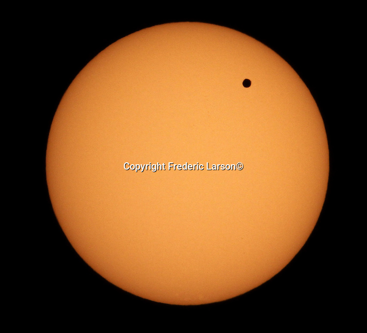 The planet Venus made a rare transit in front of the sun Tuesday 6/5 afternoon and into early evening.  To see another one, you'll have to wait 105 years. .. .