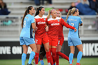 Boyds, MD - Saturday May 6, 2017: Skroski, Arielle Ship, Line Sigvardsen-Jensen, Nikki Stanton during a regular season National Women's Soccer League (NWSL) match between the Washington Spirit and Sky Blue FC at Maureen Hendricks Field, Maryland SoccerPlex.