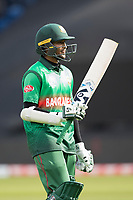 Shakib Al Hasan (Bangladesh) acknowledges the crowds applause following his dismissal for 121 during England vs Bangladesh, ICC World Cup Cricket at Sophia Gardens Cardiff on 8th June 2019