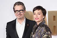 Gary Oldman &amp; Kristin Scott Thomas at the &quot;Darkest Hour&quot; premiere at the Odeon Leicester Square, London, UK. <br /> 11 December  2017<br /> Picture: Steve Vas/Featureflash/SilverHub 0208 004 5359 sales@silverhubmedia.com