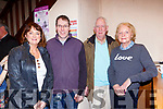 Sheila Cremins, Dan Lynch Knocknagoshel, Peter and MAry Howarth Castleisland at the Kerry Drama Festival in the Ivyleaf theatre Castleisland on Friday night