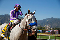 ARCADIA, CA - MAY 27: Cupid and Rafel Bejarano win the Gold Cup at Santa Anita Park  on May 27, 2017 in Arcadia, California. (Photo by Alex Evers/Eclipse Sportswire/Getty Images)