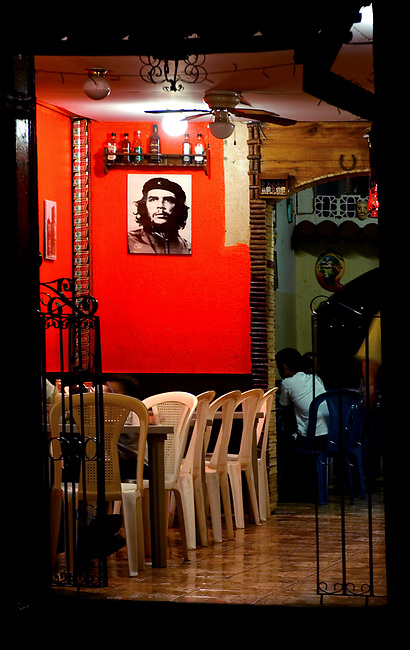 The revolutionary spirit is still strong in Leon, Nicaragua as seen by this portrait of Che Guevara hanging in a local restaurant.